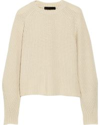 The Row Finn Ribbed Cashmere and Silk-blend Sweater - Lyst