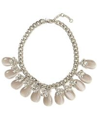 Banana Republic Silk and Satin Stone Focal Necklace - Lyst
