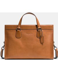 COACH | Smith Brief In Sport Calf Leather | Lyst