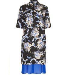 Topshop Artichoke Floral Print Shirt Dress - Lyst