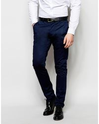 Vito - Casual Cotton Suit Trousers In Skinny Fit - Lyst