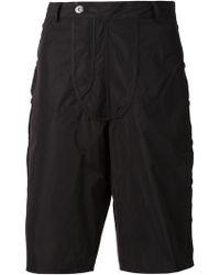 Hood By Air Asymmetric Fastening Shorts black - Lyst