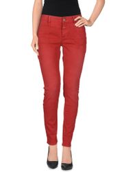 Closed Denim Trousers red - Lyst