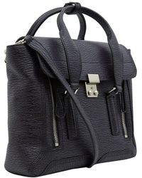3.1 Phillip Lim - Medium Dark Purple Pashli Leather Bag - Lyst