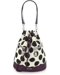 House of Holland | The Bucket Purple & Polka Dots | Lyst