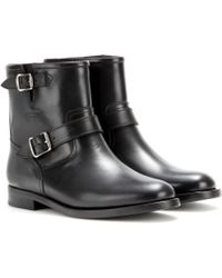 Saint Laurent Motorcycle Leather Biker Boots - Lyst