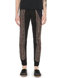 Dries Van Noten Embroidered Slim-Fit Trousers - For Men - Lyst