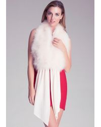Bebe - Feather Tie Front Collar - Lyst