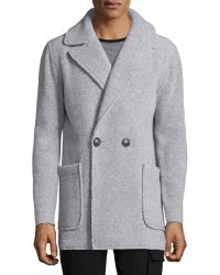 ATM - Faux-shearling Single-breasted Coat - Lyst