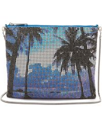 Whiting & Davis Palms Cross Body Pouch Blue Multi - Lyst