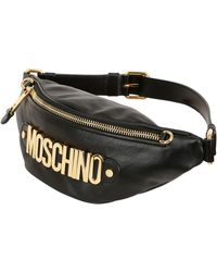 Moschino Logo Lettering Leather Belt Pack - Lyst