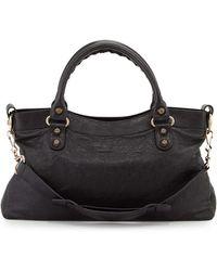 Balenciaga Giant 12 Golden City Tote Bag black - Lyst