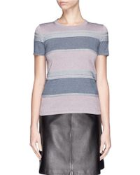Armani Colourblock Stripe Stretch Knit Top - Lyst