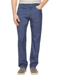 Calvin Klein Slim Fit Patterned Pants - Lyst