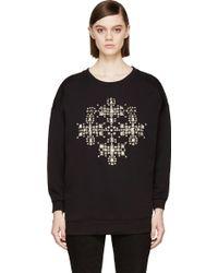 Saint Laurent Studded Over Sized Sweatshirt - Lyst