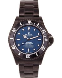 Bamford Watch Department Bamford Monogrammable Submariner With A Blue Dial black - Lyst