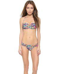 Shoshanna Neon Paisley Twist Bikini Top - Neon Pink Multi - Lyst