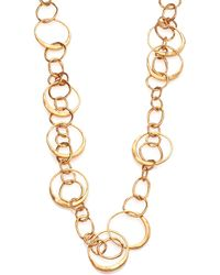 Tory Burch Hammered Link Long Necklace - Lyst