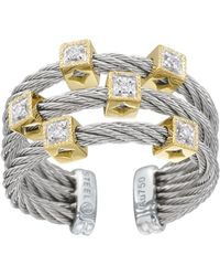 Charriol Diamond Cubestation Cable Ring Size 65 silver - Lyst