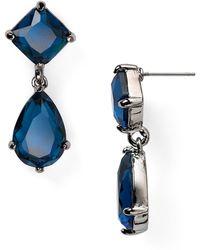 Lauren by Ralph Lauren Faceted Double Drop Earrings - Lyst
