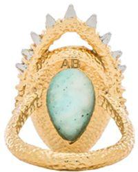 Alexis Bittar Framed Amazonite Crystal Ring - Lyst