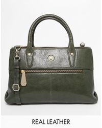 Ri2k - Leather Structured Bag With Optional Shoulder Strap - Lyst