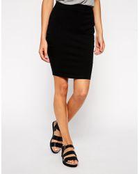 Asos Knee Length Pencil Skirt In Jersey - Lyst