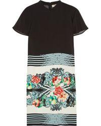 Etro Printed Crepe Mini Dress - Lyst