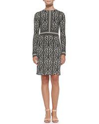 Tory Burch Deborah Printed Silk Dress - Lyst