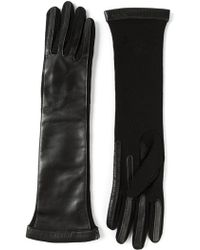 Lanvin Leather Long Sleeve Gloves - Lyst