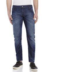 G-Star RAW Dark Wash Arc 3D Slim Fit Jeans - Lyst