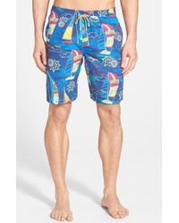 Bugatchi Sailboat-Print Swim Shorts - Lyst