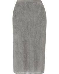 J.Crew - Collection Metallic Ribbed Jersey Skirt - Lyst