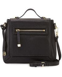 Halston Heritage Leather Flap Crossbody Bag black - Lyst