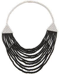Kenneth Jay Lane Deco Bib Necklace  Black - Lyst