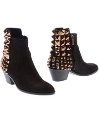 Grey Mer Ankle Boots - Lyst