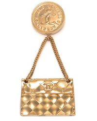 Chanel Pre-owned Brooch - Lyst