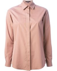 Gucci Pink Classic Shirt - Lyst