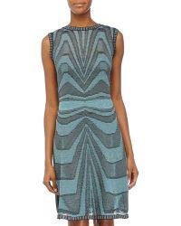 M Missoni Wavy-Knit Sleeveless Dress - Lyst