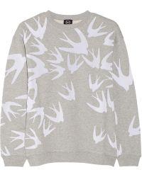 McQ by Alexander McQueen Flocked Cotton Sweatshirt - Lyst