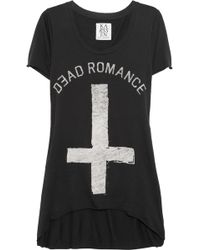 Zoe Karssen Dead Romance Cotton and Modal-blend T-shirt - Lyst