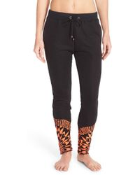 Mara Hoffman | Embroidered Slim Leg Trousers | Lyst