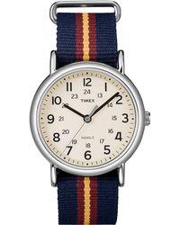 Timex - Weekender Fullsize Watch with Slipthru Strap - Lyst