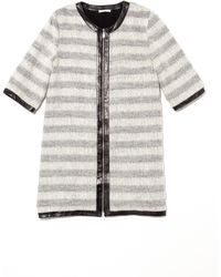 Rebecca Minkoff Gray Car Coat - Lyst