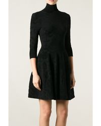 Issa Velvet Jacquard Dress - Lyst