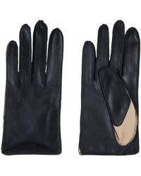 Amanda Wakeley - Short Bicolour Leather Gloves - Lyst