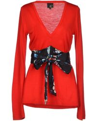 Just Cavalli Red Sweater - Lyst