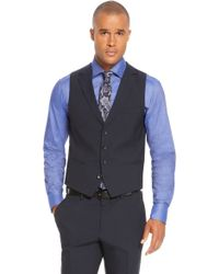 Hugo Boss Hattrickfinal We  Slim Fit Stretch Virgin Wool Blend Stripe 3piece Suit - Lyst