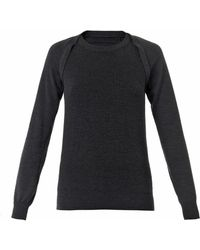 Maison Margiela Ribbed-Knit Wool Sweater - Lyst