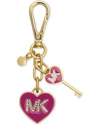 Michael Kors Michael Mk Enamel Heart Key Fob - Lyst